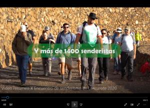 Pincha aquí para ver el vídeo resumen del X Encuentro de senderismo en Lanzarote 2020